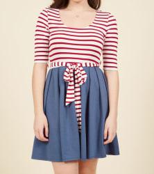 ModCloth Women's Twofer Striped Dress $50