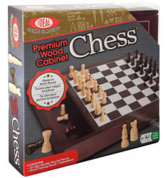 Ideal Premium Wood Classic Chess Game for $8
