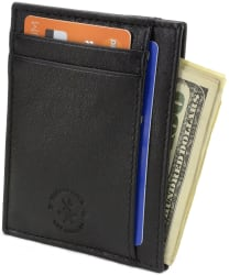 Hammer Anvil Leather Anti-Theft Wallet for $8