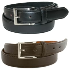 Men's Genuine Leather Dress Belt 2-Pack for $5