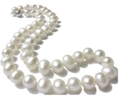 10.5mm Lustrous Freshwater Pearl Necklace for $40