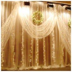 10x7-Foot 224-LED Fairy Light Curtain for $20