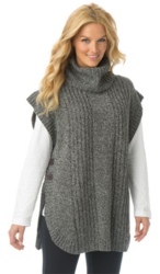 Woman Within Women's Poncho Cowl Neck Sweater $18