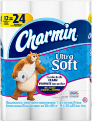 12 Charmin Ultra Toilet Paper Double Rolls for $6