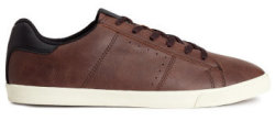 H&M Men's Faux Leather Sneakers for $18