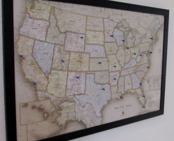 Magnetic Pin Travel Map for $49
