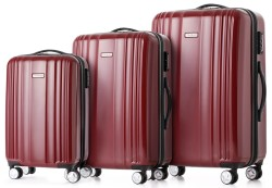 Tomshoo 3-Piece Carry-On Luggage Set for $85