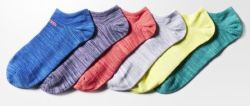6 Pairs adidas Girls' Superlite No-Show Socks $8