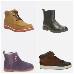 Clarks Kids' Sale: Shoes for $30, boots for $40