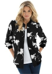 Roaman's Women's Bomber Jacket for $22