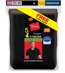 Hanes Men's T-Shirt 5-Pack, $15 Kmart Credit $15