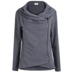 SheIn Women's Asymmetric Zip Jacket for $19 + free shipping