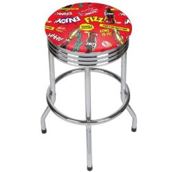 Coca-Cola Chrome Ribbed Pop Art Bar Stool for $86