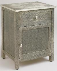 World Market Kiran Embossed Metal Cabinet for $160