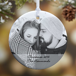 1-Sided Photo Sentiments Personalized Ornament $8