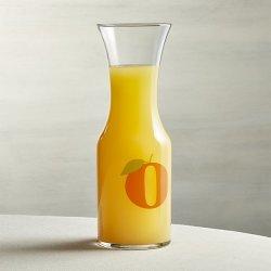 Crate & Barrel Orange Juice Carafe for $5