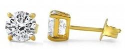 Cubic Zirconia 10K Gold Earrings for $17