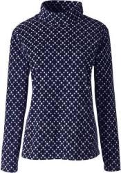 Lands' End Women's Fleece Mock Pullover for $8