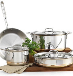 All-Clad Copper-Core 7-Piece Cookware Set for $574