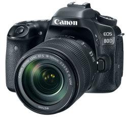 Refurb Canon EOS 80D 24MP DSLR Camera, Lens $1,149