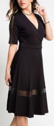 I'm In Women's Mesh Panel Surplice Dress for $35