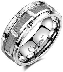 Caperci Men's Tungsten Carbide Wedding Ring $39