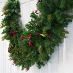 20-Foot Artificial Red Berry Garland for $96