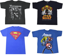 Super Heroes T-Shirts at Best Buy for $3