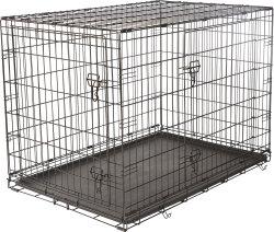 "Frisco Fold & Carry 48"" Double Door Dog Crate $50"