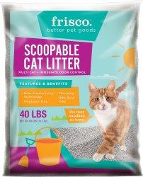 Frisco Clumping Cat Litter 40-lb. Bag for $12