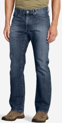 Eddie Bauer Men's Authentic Jeans for $21