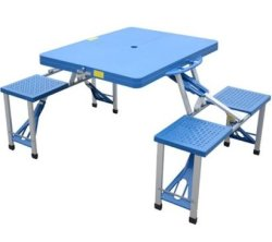 Outsunny Folding Suitcase Picnic Table for $39