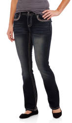 Faded Glory Women's Embellished Bootcut Jeans $7