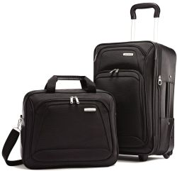 Samsonite 2-Piece Upright Luggage Set for $56