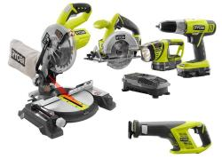 Ryobi One+ 18V Lithium-Ion 5-Tool Combo Kit $209