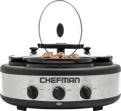 Chefman 4.5-Quart Stainless Steel Slow Cooker $35