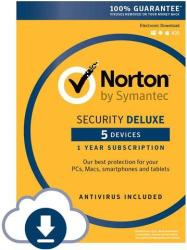 Norton Security Deluxe 5-Device 1-Year Sub $0
