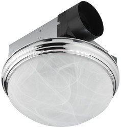Utilitech 3.5-Sone Chrome Bathroom Fan for $22