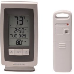 AcuRite Wireless Weather Clock Station for $8
