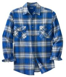 King Size Men's Plaid Flannel Shirt for $13