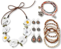 Women's Hair Garland and Beaded Jewelry Set $10