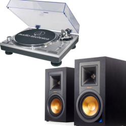 2 Klipsch Bluetooth Speakers w/ USB Turntable $495