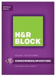 H&R Block Tax Deluxe + State 2016 for PC for $21