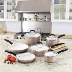 Cuisinart 10-Piece Ceramic Cookware Set from $60