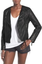 Topshop Women's Faux Leather Biker Jacket for $50