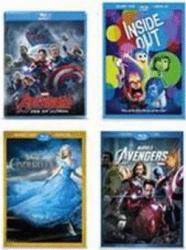 Disney Movies, Select Titles On Blu-Ray & DVD