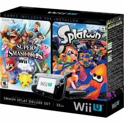 Nintendo Wii U 32GB Smash Splat Deluxe Console Bundle