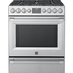 Kenmore Pro 1.8-Cu. Ft. Over-the-Range Convection Microwave & Self-Clean Gas Convection Range