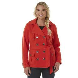 Bongo Women's Double Breasted Faux Wool Jackets