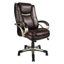 Realspace BTEC 600 Big & Tall Bonded Leather Executive Chair in Brown or Black